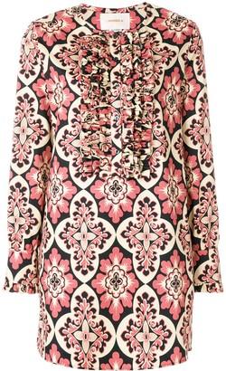 La DoubleJ Palazzo Rosa tuxedo dress