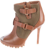 Tory Burch Peep-Toe Ankle Boots