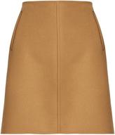Tomas Maier Raw-edge wool-blend skirt