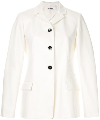 Jil Sander Gaudi single-breasted cotton blazer