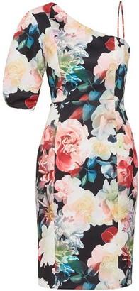 Gina Bacconi Lelia Floral Scuba Dress