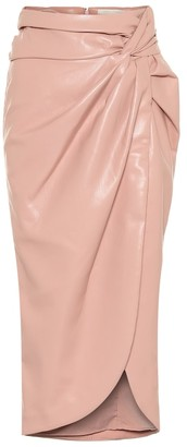 Jonathan Simkhai Faux-leather midi skirt