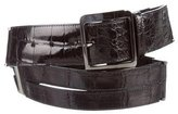 Oscar de la Renta Alligator Waist Belt