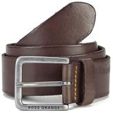 BOSS ORANGE Men's Jeek Leather Belt Brown