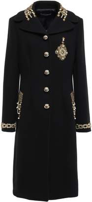 Dolce & Gabbana Embellished Wool And Cashmere-blend Felt Coat