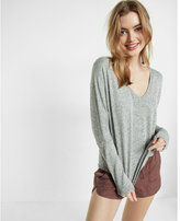 Express one eleven marled knit v-neck tee
