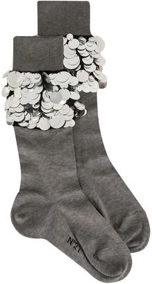 No.21 Macro-Sequin Embellished Socks