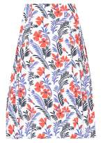 Carolina Herrera Party printed cotton skirt