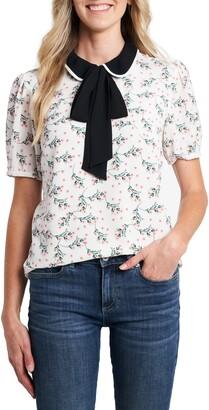 CeCe Collar Bouquet Blouse