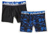 Under Armour Big Boys 8-20 2-Pack Blur/Solid Boxer Briefs