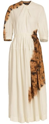 Proenza Schouler Tie-Dye Linen-Blend Maxi Dress