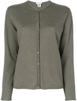 Le Tricot Perugia round neck buttoned cardigan - women - Virgin Wool - Xxxl