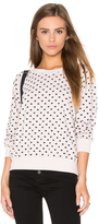 Monrow Polka Hearts Vintage Sweatshirt