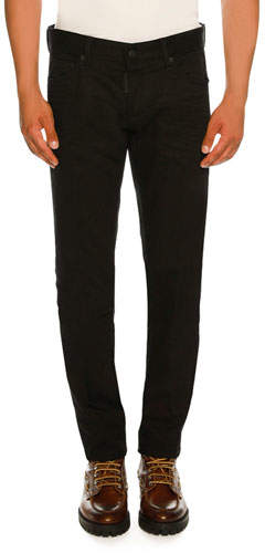 DSQUARED2 Bull Wash Slim-Fit Solid Jeans