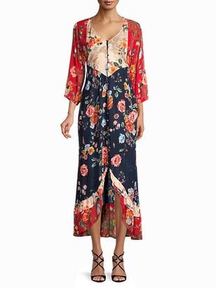 Bila Floral High-Low Peasant Dress