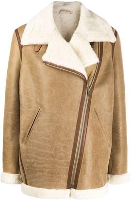 Isabel Marant Leather-Trim Oversized Jacket