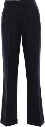 Maison Margiela Pleated Wool-twill Straight-leg Pants