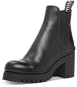 Miu Miu Women's Leather Platform Booties