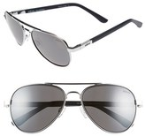 Revo Men's 'Raconteur' 58Mm Polarized Aviator Sunglasses - Chrome/ Graphite