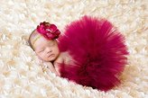SEADEAR Newborn Baby Photography Prop Infant Tutu Skirt Newborn Photo Prop Costume with Flower Headband Set Hair Accessories for baby hundred days(Red wine)