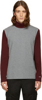 Noah Nyc Grey Colorblock Turtleneck