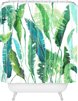 Deny Designs Leaves Shower Curtain