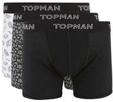 Topman Three-Pack Printed Logo Boxer Briefs