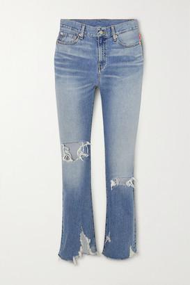 Denimist Joni Distressed Mid-rise Slim-leg Jeans - Mid denim