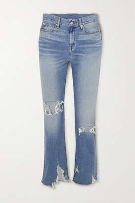 Denimist Joni Distressed Mid-rise Slim-leg Jeans