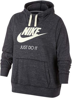 Nike Women's Sweatshirts and Hoodies Anthracite/Sail - Anthracite & Sail Gym Vintage Hoodie - Plus