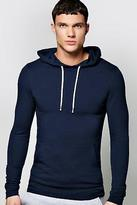 boohoo NEW Mens Muscle Fit Over The Head Hoodie in Cotton