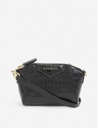 Givenchy Nano Atigona crocodile-embossed leather shoulder bag