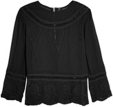 W118 by Walter Baker Chloe embridered georgette top