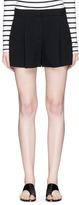 Theory 'Thoni' pleated crepe shorts