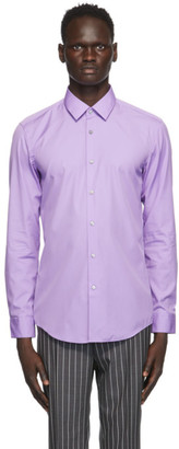HUGO BOSS Purple Slim-Fit Shirt