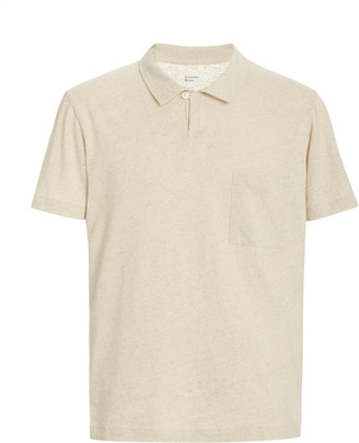 Universal Works Vacation Linen and Cotton Polo Shirt