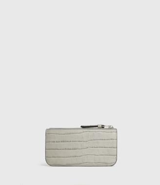 AllSaints St James Crocodile Leather Wallet