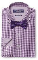 Graham & Graham Men's Gingham Dress Shirt & Skull Print Bow Tie Set Purple - Graham & Graham