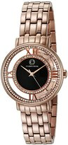 Cabochon Women's 'Carnaval' Quartz Stainless Steel Casual Watch (Model 80288-RG-01)