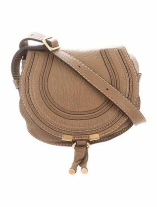 Chloé Mini Marcie Round Crossbody Bag Gold