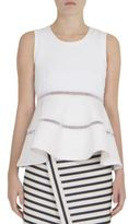 Carven Sleeveless Peplum Top