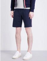 Moncler Stripe-trim cotton-jersey shorts