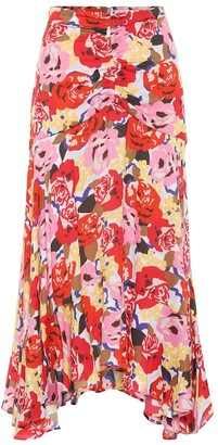 Rebecca Vallance Blume floral crApe skirt