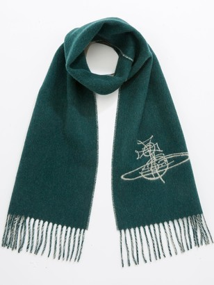 Vivienne Westwood Double Face Orb Scarf - Teal