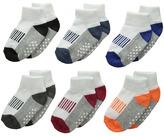 Jefferies Socks Sporty Half Cushion Quarter Socks 6-Pair Pack Boys Shoes
