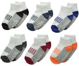 Jefferies Socks Sporty Half Cushion Quarter Socks 6-Pair Pack (Toddler/Little Kid/Big Kid/Adult)