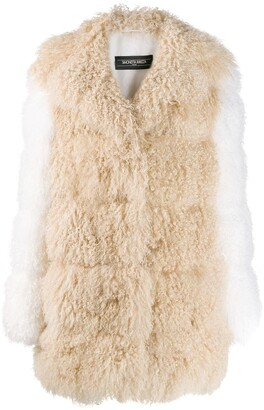 Simonetta Ravizza Shearling Mid-Length Coat
