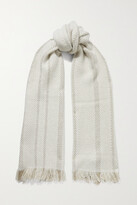 Thumbnail for your product : Loro Piana Fringed Metallic Cashmere-blend Scarf - Neutrals