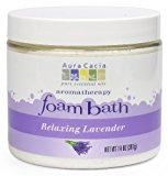 Aura Cacia Aromatherapy Foam Bath, Relaxing Lavender, 14 ounce jar