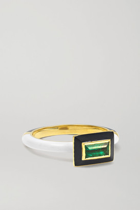 Alice Cicolini Memphis Candy 14-karat Gold, Enamel And Emerald Ring - 7